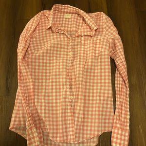J.Crew Pink and White Gingham Shirt